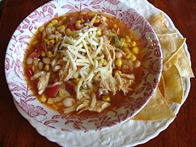 Slow Cooker Chicken Chili makes a perfect family meal to come home to!