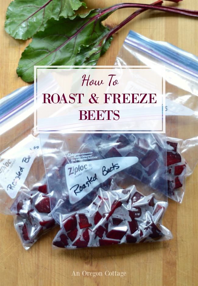 How to Roast and Freeze Beets - yes you CAN freeze beets and they turn out terrific! It's an easy way to preserve beets.