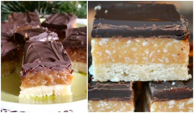 Different caramel cooking techniques for caramel coconut shortbread bars