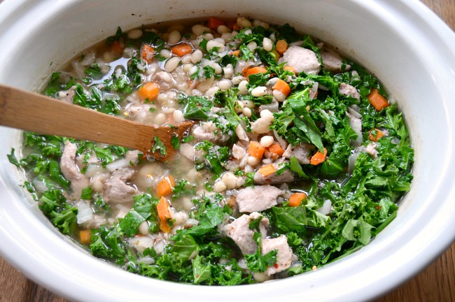 Adding greens to Slow Cooker Pork Stew