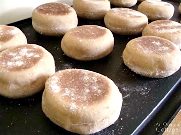 Cooking Whole Wheat Sourdough English Muffins