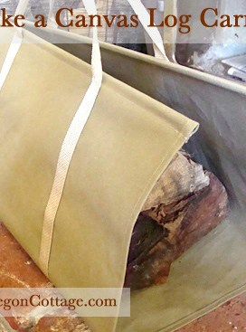 How To Make A Canvas Log Carrier