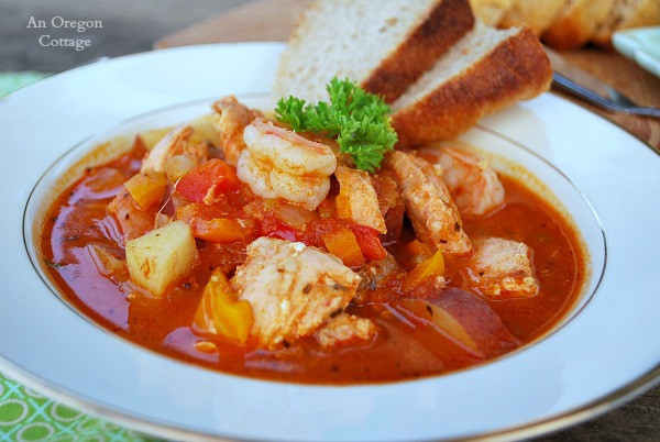 Savory Mediterranean Seafood-Tomato Stew - a quick and flavorful way to get more seafood into your diet!