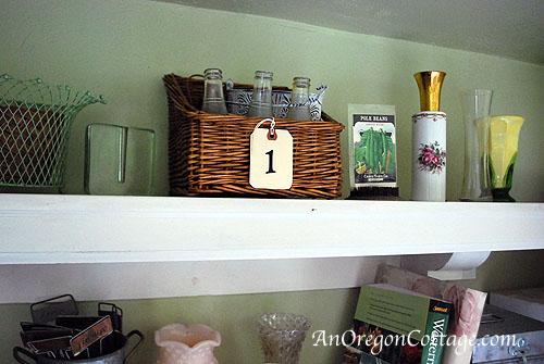 Garden shelf-1 basket