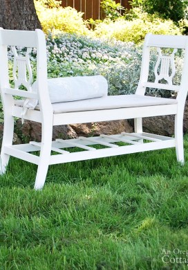 How to Make A French-Style Bench From Old Chairs
