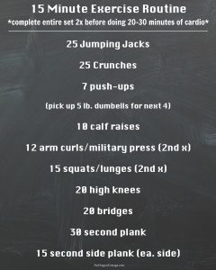 15 Minute Easy Exercise Routine for 2015