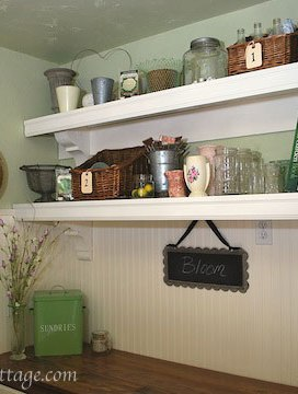 Ballard-Style Mud Room Shelves {A Pinterest Challenge}