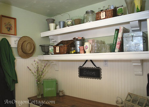 Ballard Style Mud Room Shelves - An Oregon Cottage