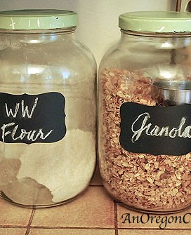 Chalkboard Label Jars – A Five Minute, Three Dollar Update