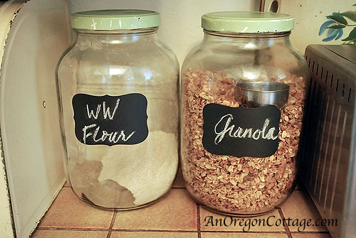 chalkboard label jars