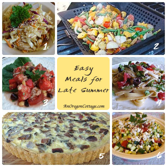 Easy late summer meals