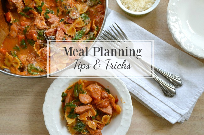 Meal Planning Tips, Tricks and Seasonal Menus