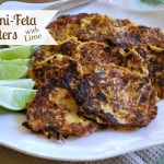Zucchini-Feta Fritters with Lime - An Oregon Cottage