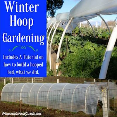 Winter Hoop Gardening via Homemade Food Junkie