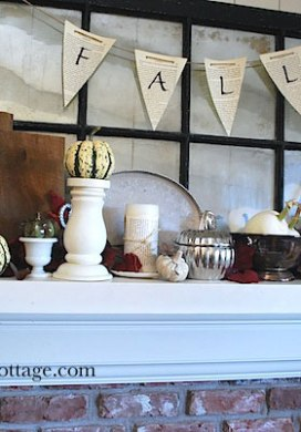 Thrifted Mantel Styling