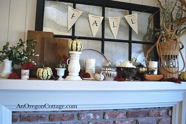 Fall-thrifted-mantel