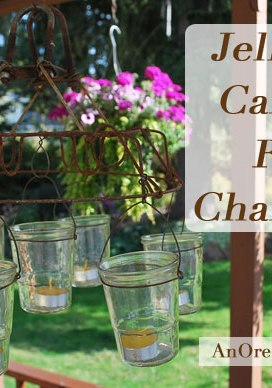 DIY Outdoor Chandelier Tutorial {Using Vintage and Found Items}