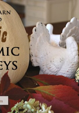 Thrift Store Transformations: White Ceramic Turkeys