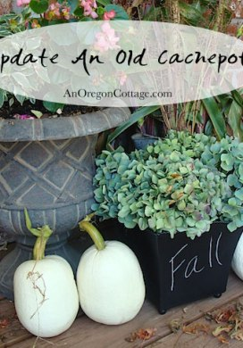 Thrift Store Transformations: Chalkboard Cachepot