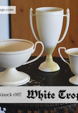 Thrift Store Transformations: White Trophies