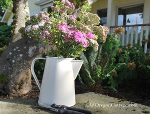 Transformed tin pitcher