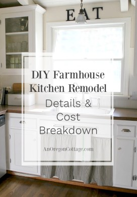 80s Ranch to Farmhouse Fresh: DIY Kitchen Remodel Details and Cost Breakdown
