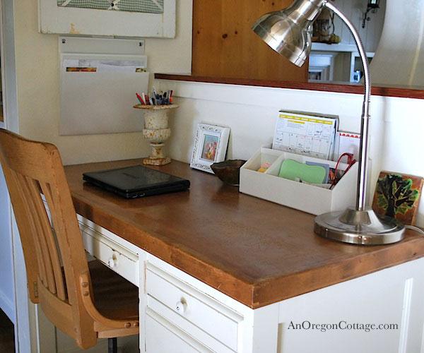 Kitchen Desk Pocket Organizer - An Oregon Cottage