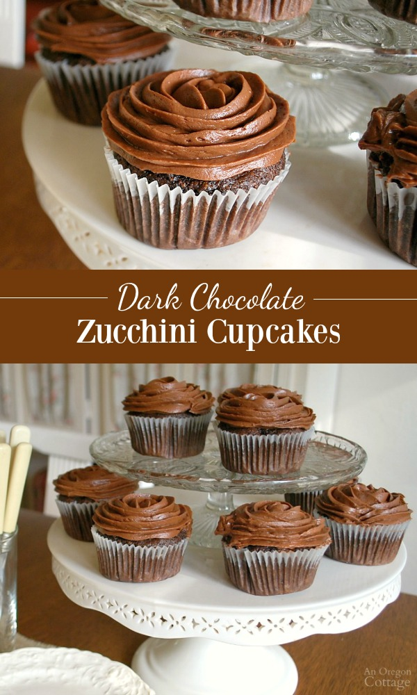 Moist and tender and not too sweet, dark chocolate zucchini cupcakes are perfect for both snacks and celebrations