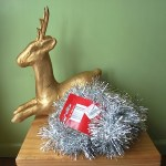 Thrift Store Transformation: A Christmas Deer & Sideboard