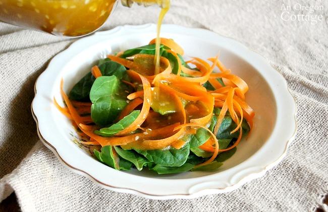 5 minute Sesame Vinaigrette salad dressing