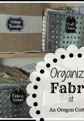 Fabric Organization – Finally!
