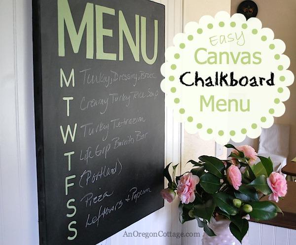 Easy Canvas Chalkboard Menu