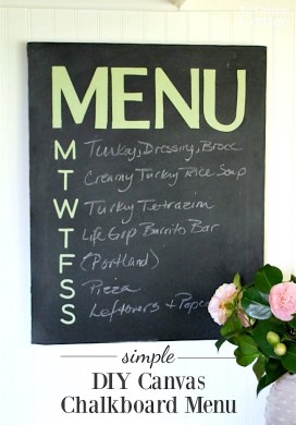 Easy DIY Canvas Chalkboard Menu