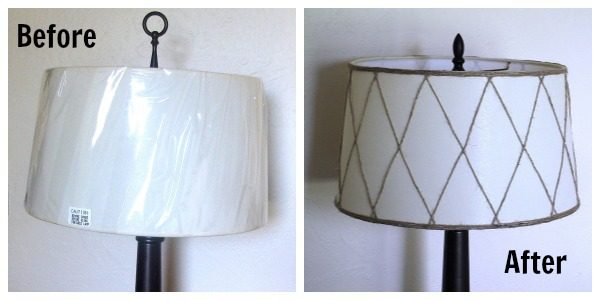 Wayfair lampshade before-after