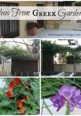 Ideas From Greek Gardens