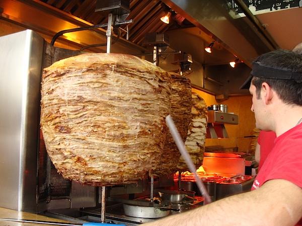 gyros meat cone