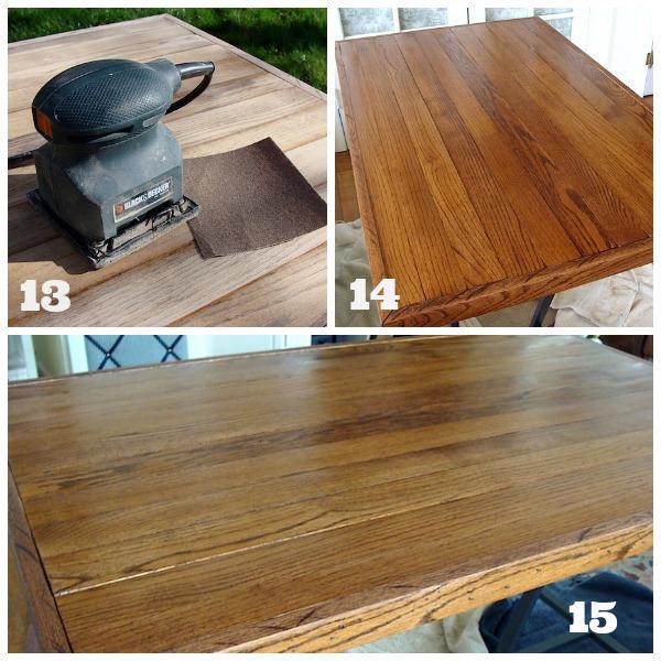 Finishing Salvaged Floor Desk Top