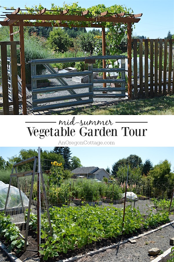 A real life raised bed vegetable garden tour that shows how easy raised bed gardens are, how much you can grow and how to make them work in different ways.