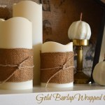 Gold Burlap Wrapped Candles :: An Oregon Cottage