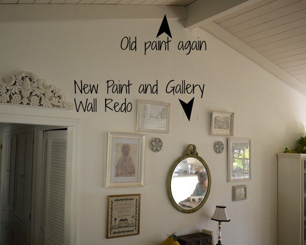 Painted gallery wall redo