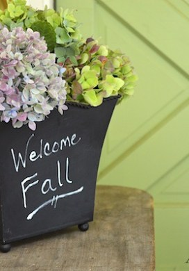 Natural Fall Porch: Pink, Green & White Decor