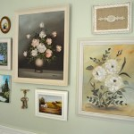 Thrift Store Oil Paintings Gallery Wall