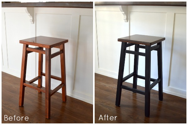 Simple Bar Stool Makeover Before and After | An Oregon Cottage