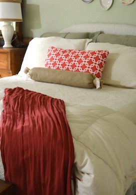 Coral & Green Master Bedroom Reveal