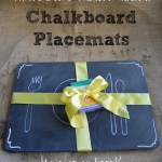 Thrifted Chalkboard Placemats