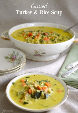 Curried Turkey and Rice Soup {or Chicken and Rice Soup}