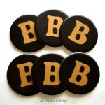 PB-Inspired Monogram Coasters- An Oregon Cottage
