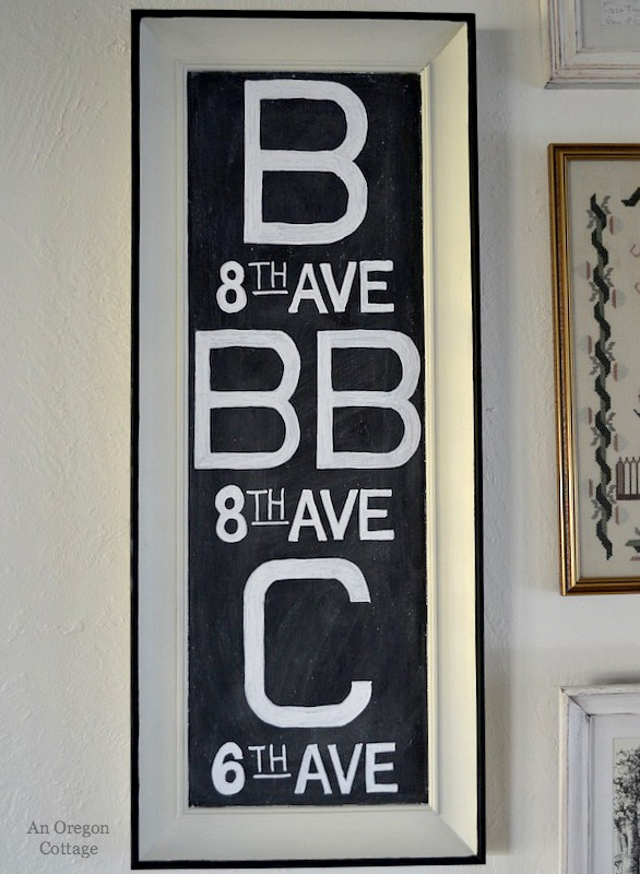 Upcycled Chalkboard Subway Sign - An Oregon Cottage