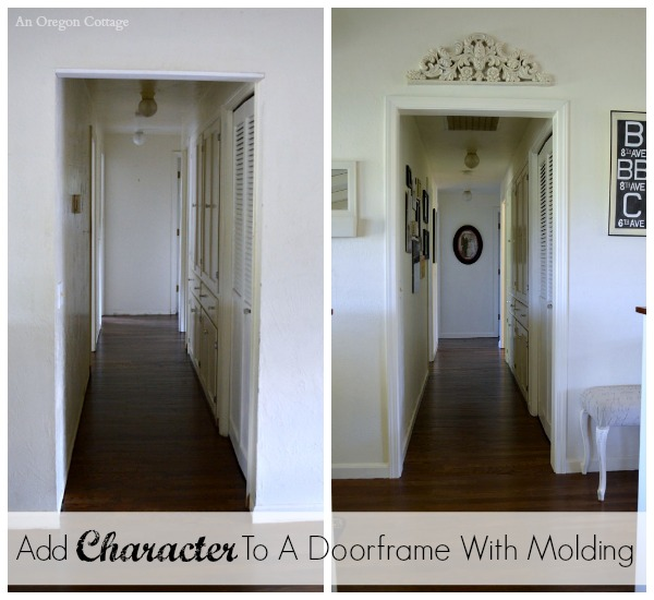 Add Character to a Doorframe with Molding - An Oregon Cottage
