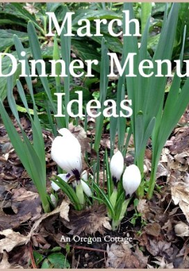 March Dinner Menu Ideas
